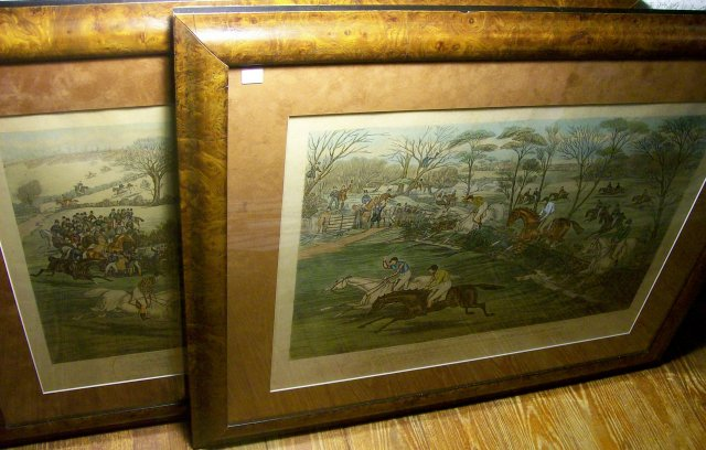 Antique Framed Prints Northampton Grand National Steeple Chase 1840