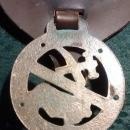 Vintage Horse Brass Medallion w/Leather Backing Dorset England