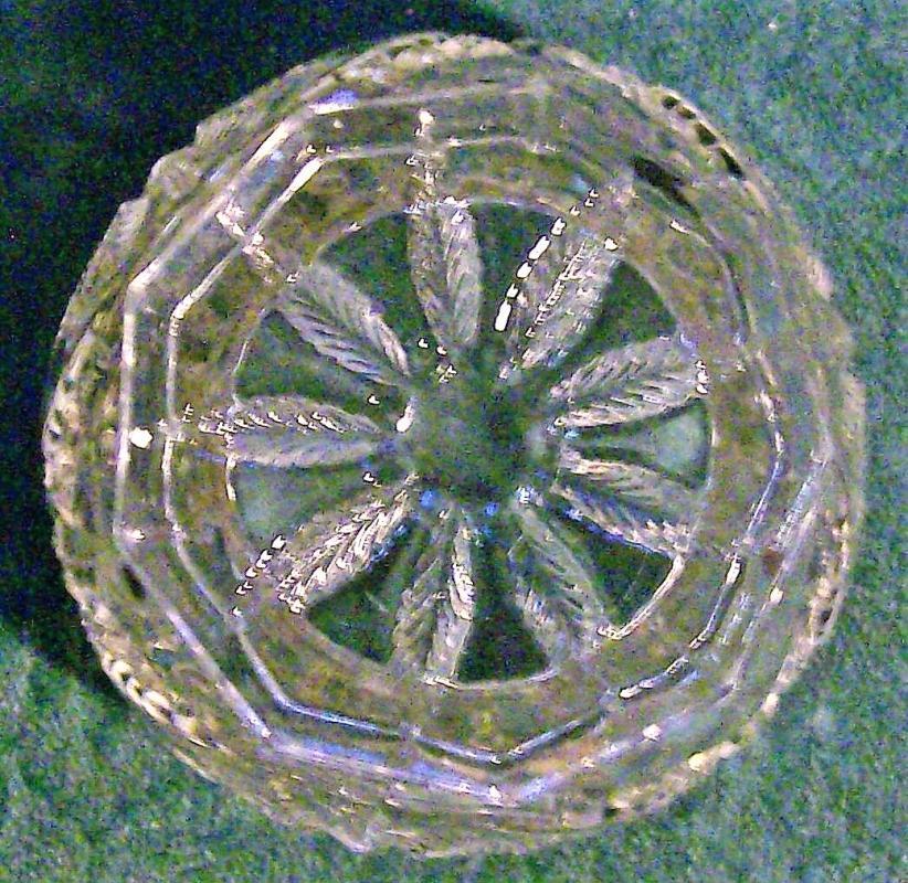 Antique Georgia Belle/Western Star Open Sugar 15097 Clear EAPG