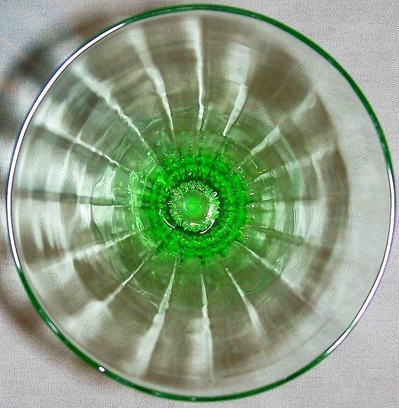 Vintage Tiffin #14196 Green Iced Tea Paneled Optic 5.75
