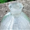 Vintage L.E. Smith Perfume Bottle Bottom Only 1930s Art Deco Ribbed