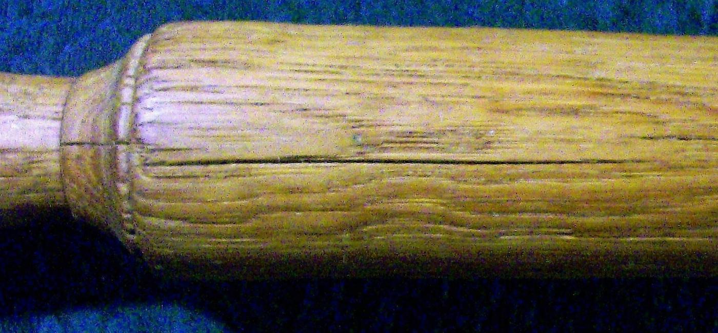 Antique Oak Wood Rolling Pin 1800s Treenware Hand-Turned 19