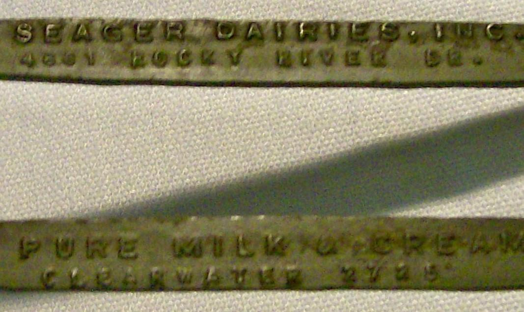Vintage Grandma's Lop-sided Mixing Spoon Seager Dairies/Cleveland Advertising w/Bottle Opener