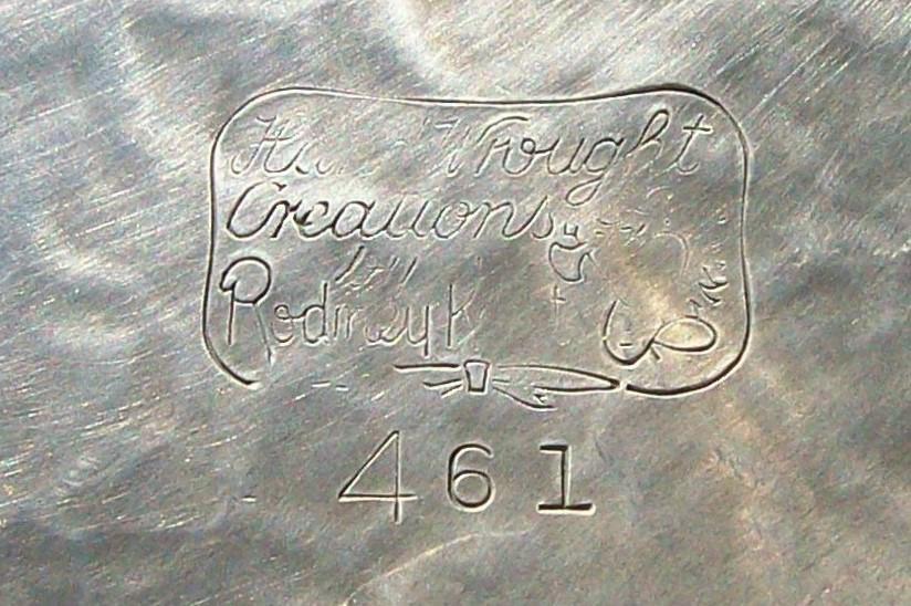 Vintage Hand-Wrought Aluminum Rodney Kent Tulip Casserole Holder with Lid #461