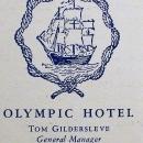 Vintage Olympic Hotel Restaurant Menu Georgian Room 1949 Seattle