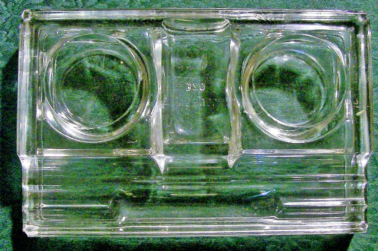 Vintage Sencbusch Art Deco Inkstand No. 320 Clear Glass 1930s-50s