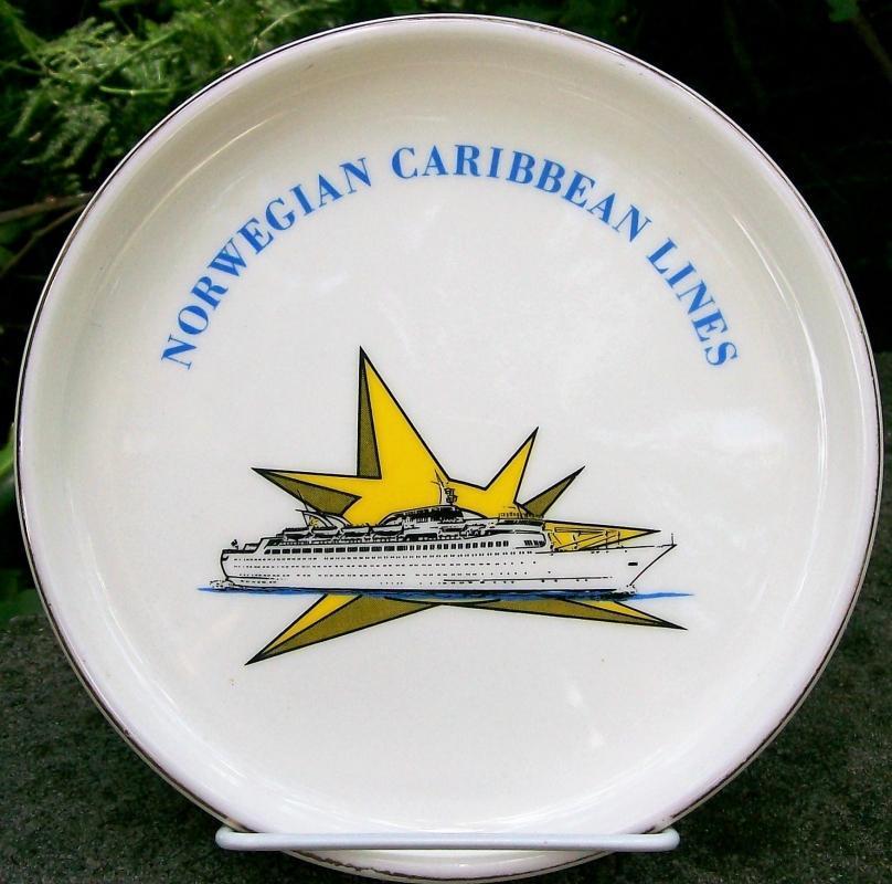 Vintage Norwegian Caribbean Cruise Lines Ashtray/Dresser Tray 1960s-70s 7