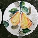 Vintage Italian Majolica Yellow Pears Plate Pair 8