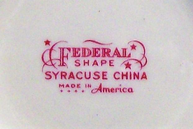 Vintage Syracuse Suzanne Plate Set/5 6 3/8