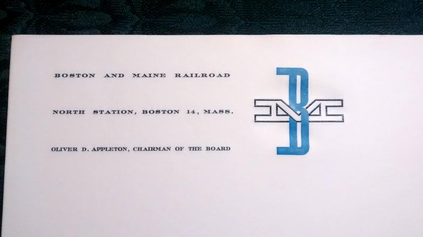 Vintage Boston & Maine Railroad Letterhead Paper Unused 15 Pieces