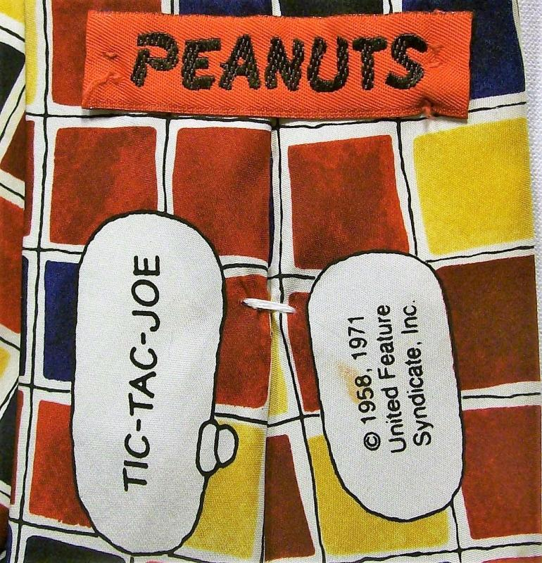 Vintage Peanuts/Snoopy/Joe Cool Silk Neck Tie