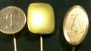 Antique Victorian Scarf Pin Set/5 w/ Monograms Gold-Filled
