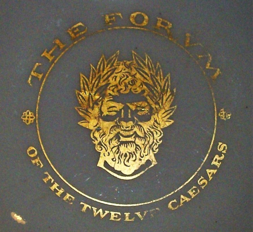 Vintage Forum/Twelve Caesars Restaurant Dish/Butter Pat or Ashtray New York