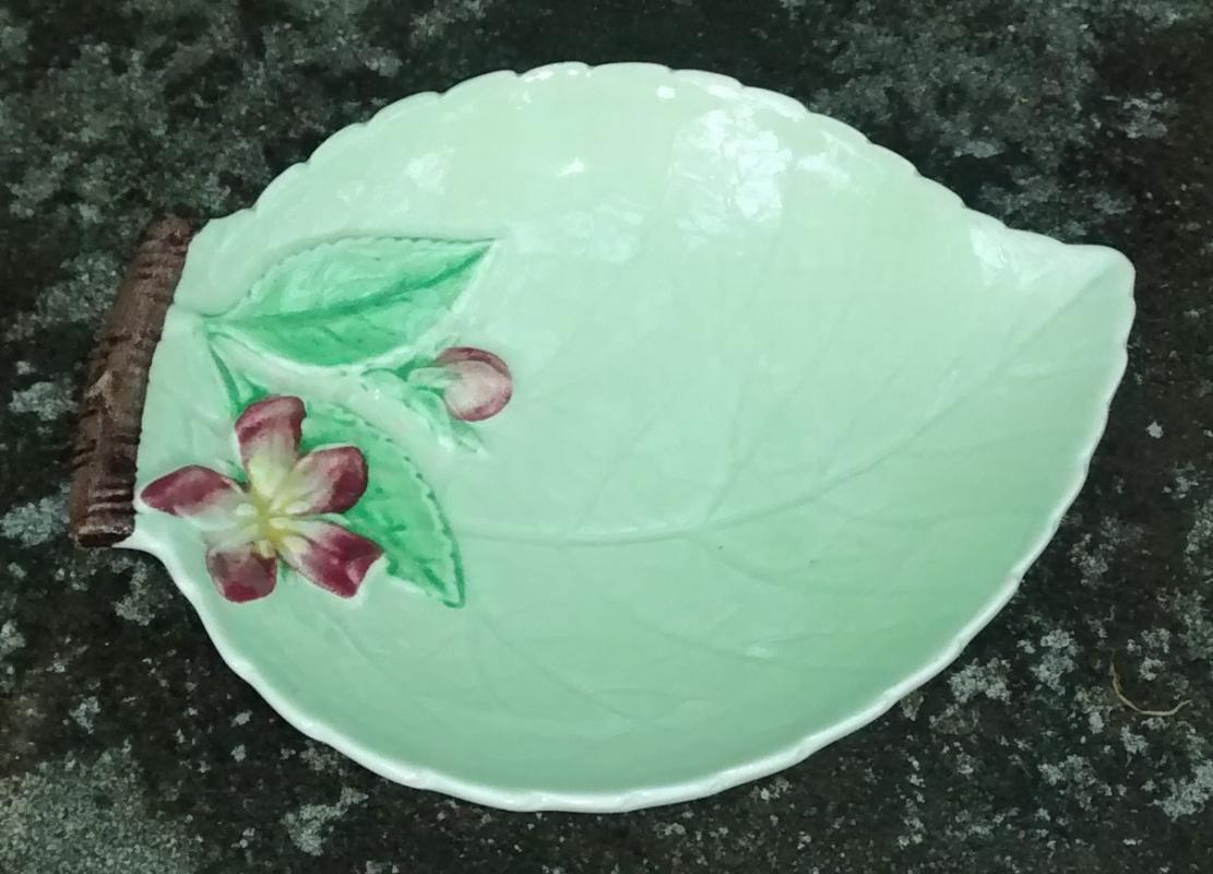 Vintage Carlton Ware Apple Blossom Open Jam Dish Green Australian Design