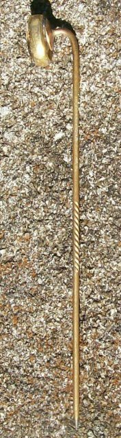 Antique Scarf/Stick Pin Clear Stone Gold-Filled Late 1800's