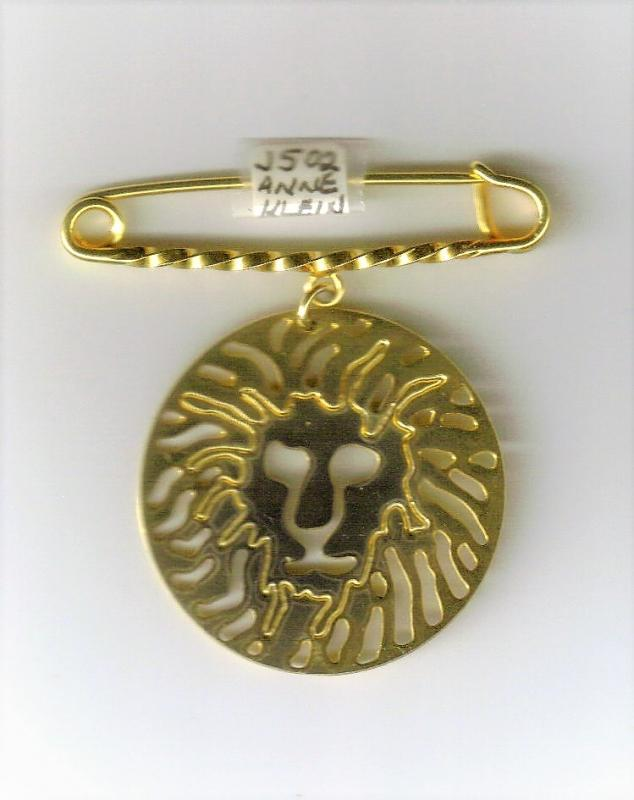Vintage Anne Klein Logo Lion Pin 1.5