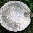 Vintage Rodney Kent Tulip Aluminum Crumb Dish/Silent Butler #439 Hand-Wrought 1950s