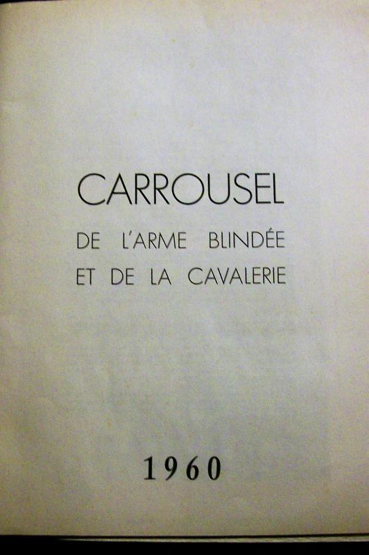 Vintage French Military Exhibition Souvenir Program Carrousel de Saumur 1960