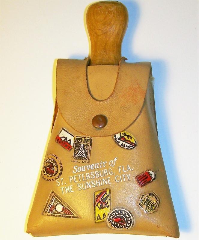Vintage Florida Souvenir Broom w/Case St. Petersburg Ca. 1950s
