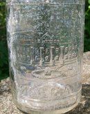 Antique White House Vinegar Bottle Clear Embossed Early 1900's Pint
