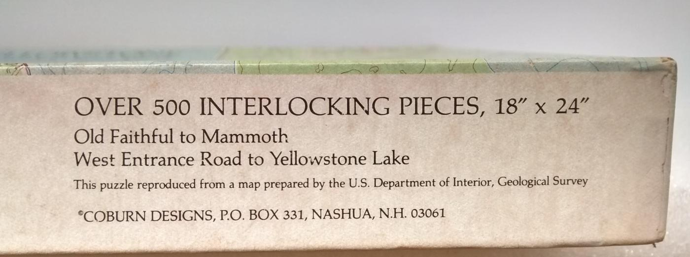 Vintage Jigsaw Puzzle Yellowstone National Park 500+ Pcs Complete w/Box