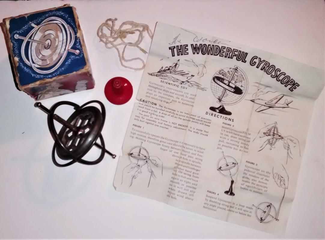 Vintage Hurst Gyroscope Space-Age Scientific Toy Complete