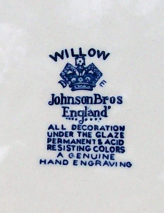 Vintage Johnson Brothers Blue Willow Plate 10
