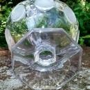 Vintage Fostoria Frosted Coin Compote/Open Jam/Jelly Clear Glass