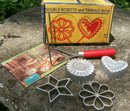 Vintage Nordic Ware Rosette/Timbale Set #210 w/Box & Recipe Book 1950's-60's