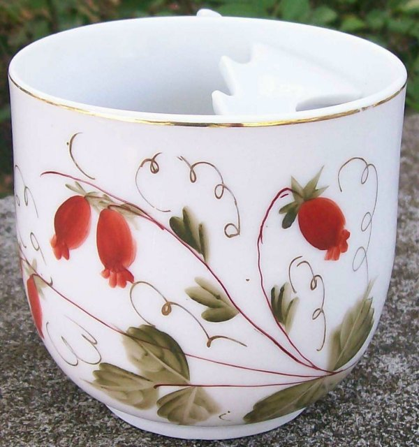 Mustache Cup: Hand-Painted Victorian