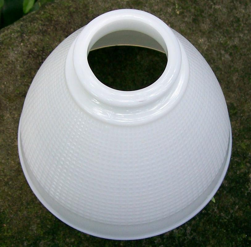 Vintage Lamp Shade Opal/Milk Glass Reflector 2.25