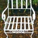 Vintage Woodard Wrought Iron Arm Chair w/Cushions 1950's-60's