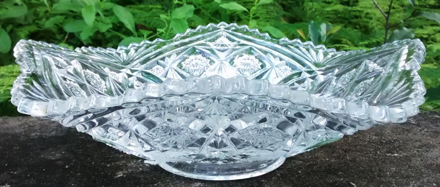 Antique Rexford Bowl EAPG Higbee Ca. 1910 Clear