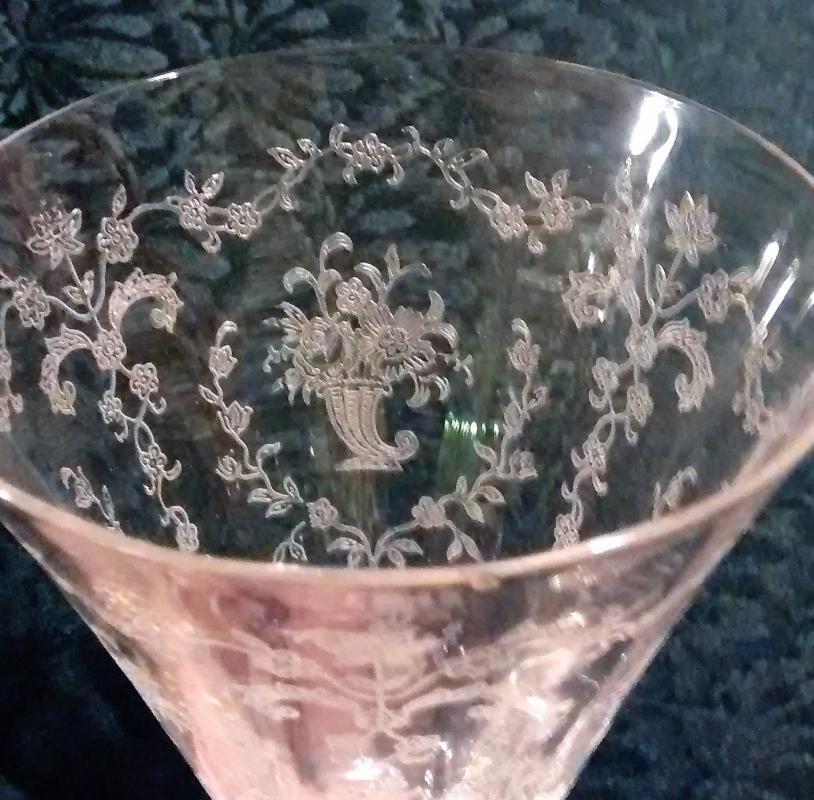 Vintage Fostoria Mayflower #6020 Water Goblet Etch 332 1938-54