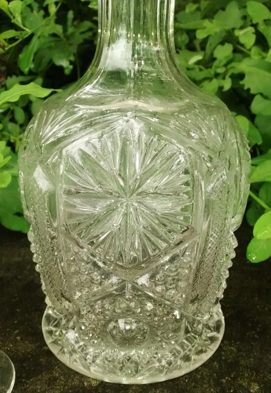 Antique Imperial Mogul #612 Decanter w/ Cordial EAPG Early 1900s