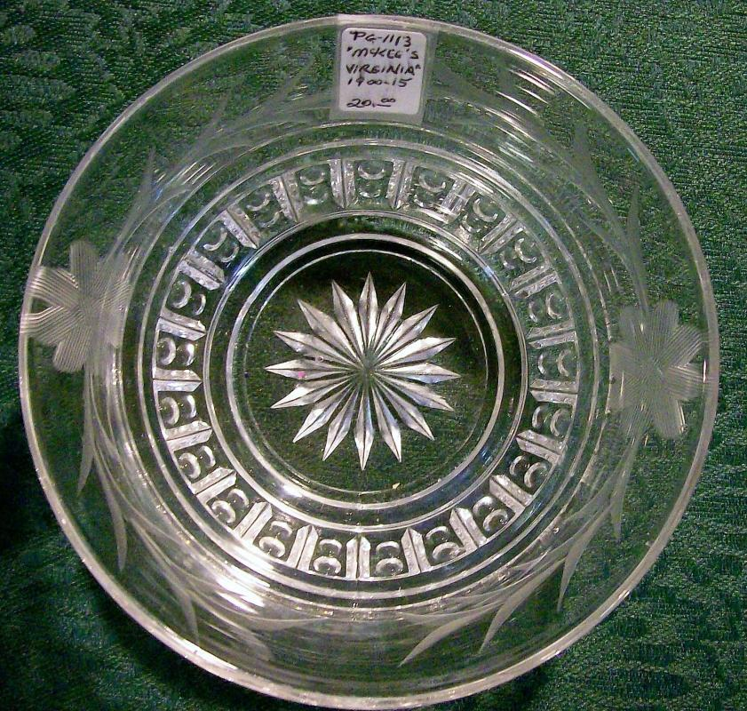 Antique McKee Virginia Bowl Cut Florals 5.25
