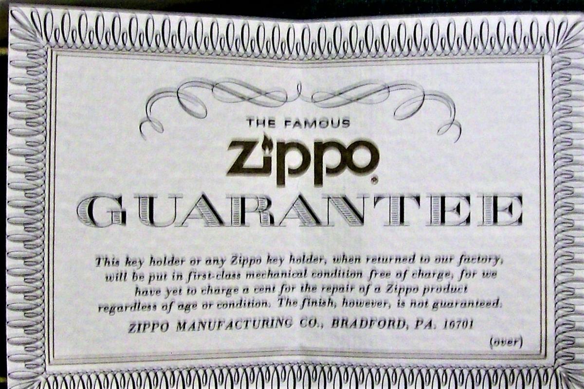 Vintage Zippo Key Ring/Holder Pottstown Pipe Products Penn NIB