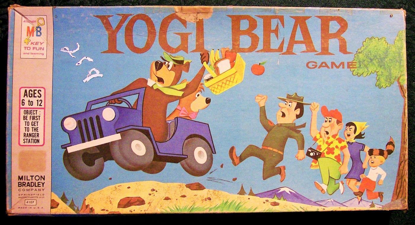 Vintage Milton Bradley Yogi Bear Board Game #4107 1971 Complete