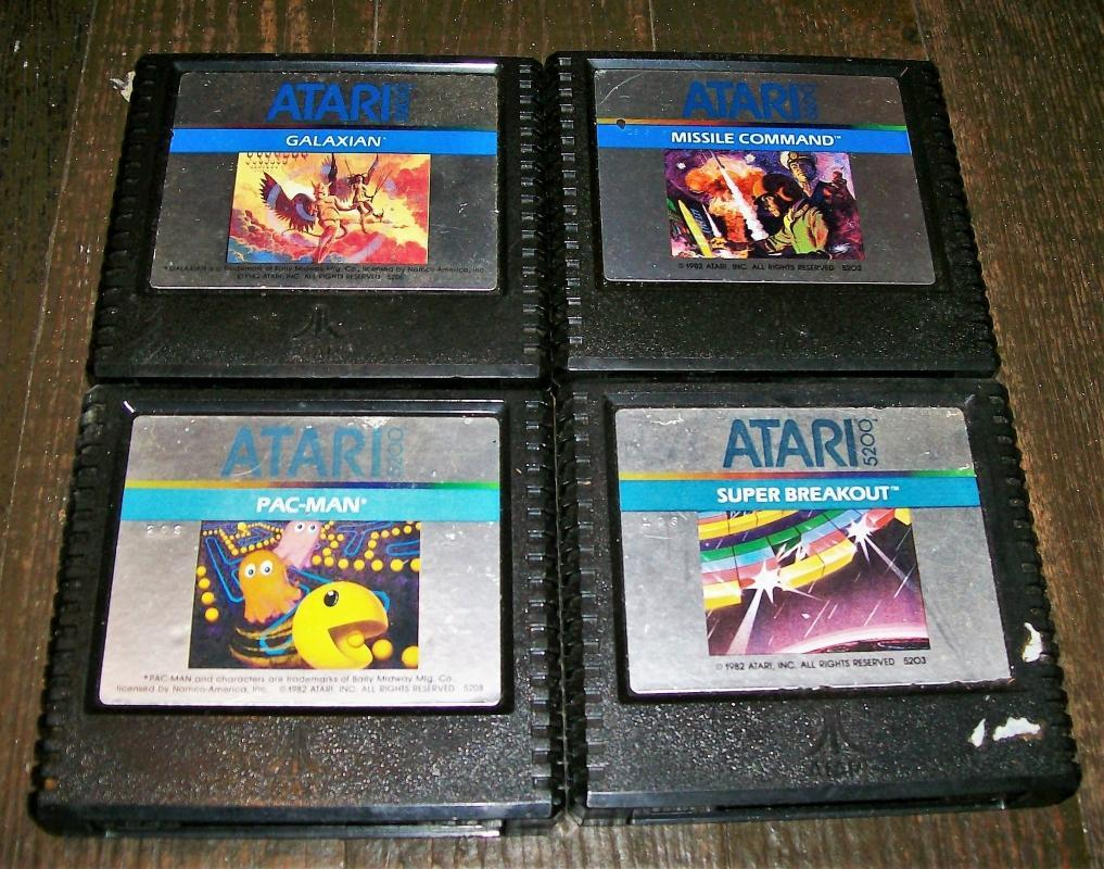 Vintage Atari 5200 Game Set/4 #5202/5203/5206/5208 Cartridges Only