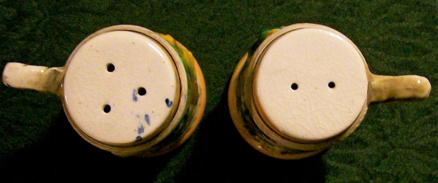 Vintage Luster Beer Stein Salt & Pepper Shakers 1950s Japan
