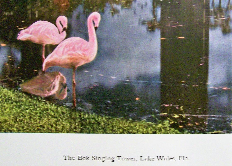 Vintage Bok Singing Tower Poster/Print Lake Wales Florida Carillon 1920s-30s