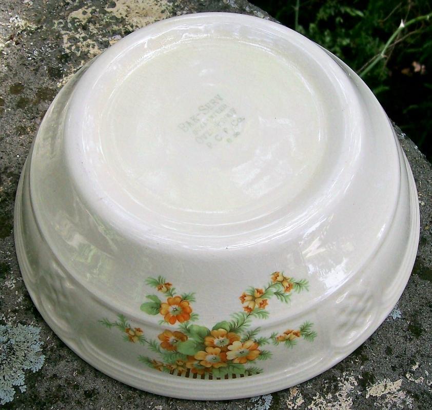 Vintage Paden City Golden Acacia Bak-Serv Dish 1936