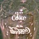 Vintage Coca-Cola Glass Tumbler Pair 1940's-60's Soda Fountain Advertising