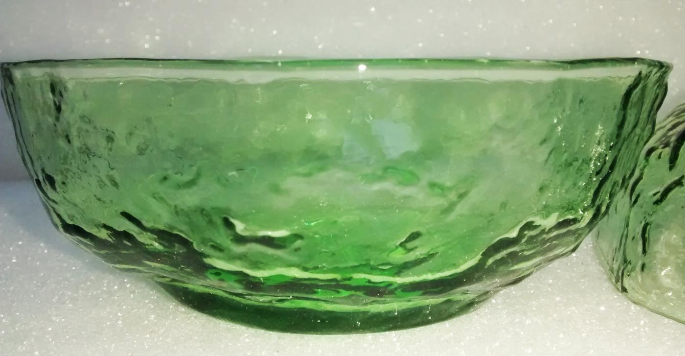 Vintage Seneca Driftwood Bowl Pair Apple Green