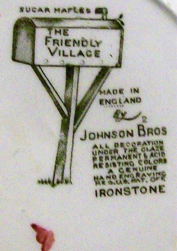 Vintage Johnson Brothers Friendly Village Plate Set/5 6.25
