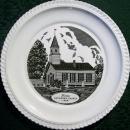 Vintage Berea Lutheran Church Plate Harker Pottery 1940s-50s Pennsylvania