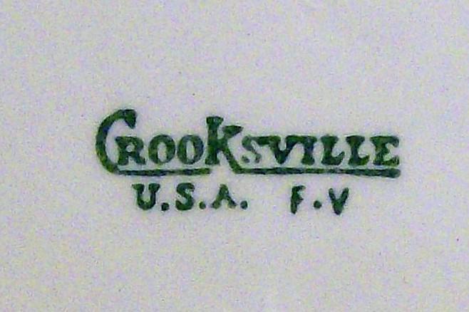 Vintage Crooksville Child's Prayer Plate Circa 1940 10.25