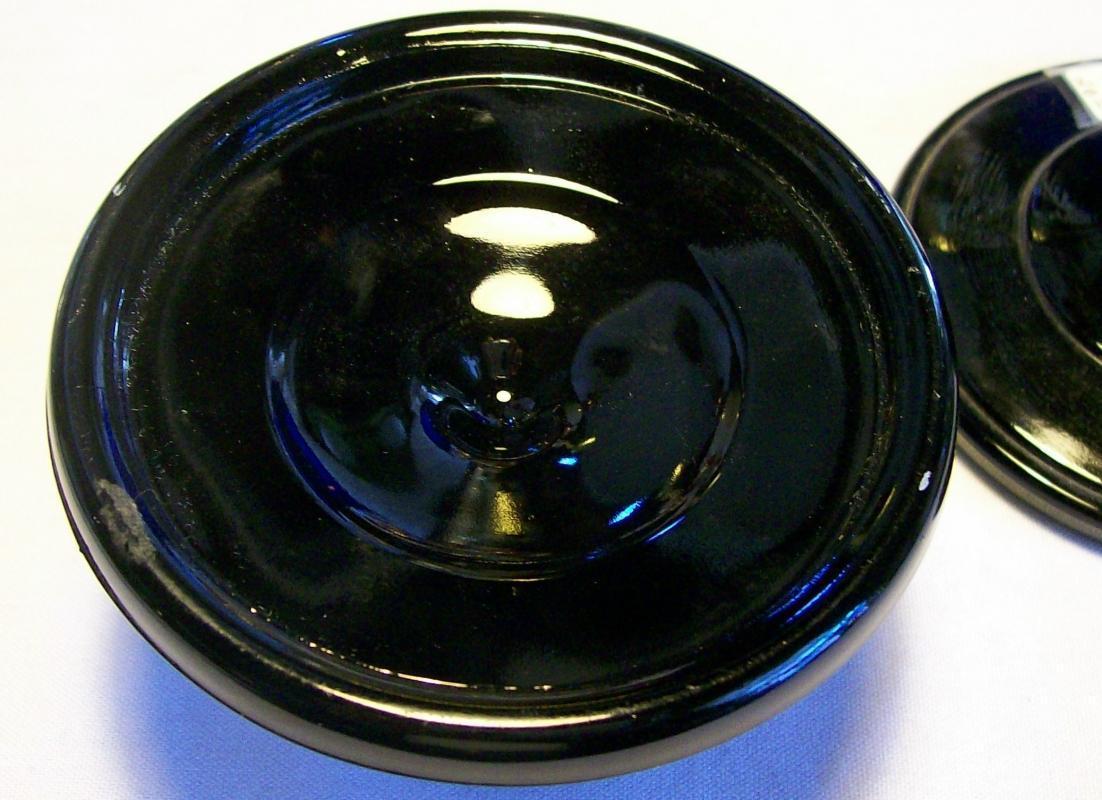Vintage Paden City Black Glass Candlestick Pair Ca. 1930