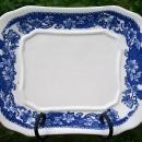 Vintage Trimont Tray for Tureen Blue & White Ca. 1950's Floral Rim Japan