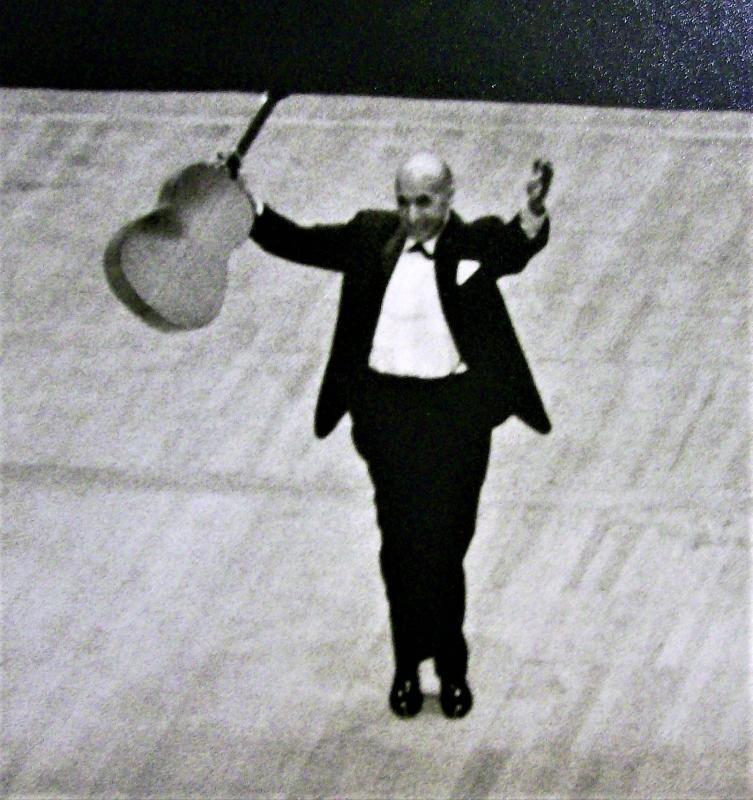 Vintage Carlos Montoya Photos 1967 Concert B&W 8 x 10